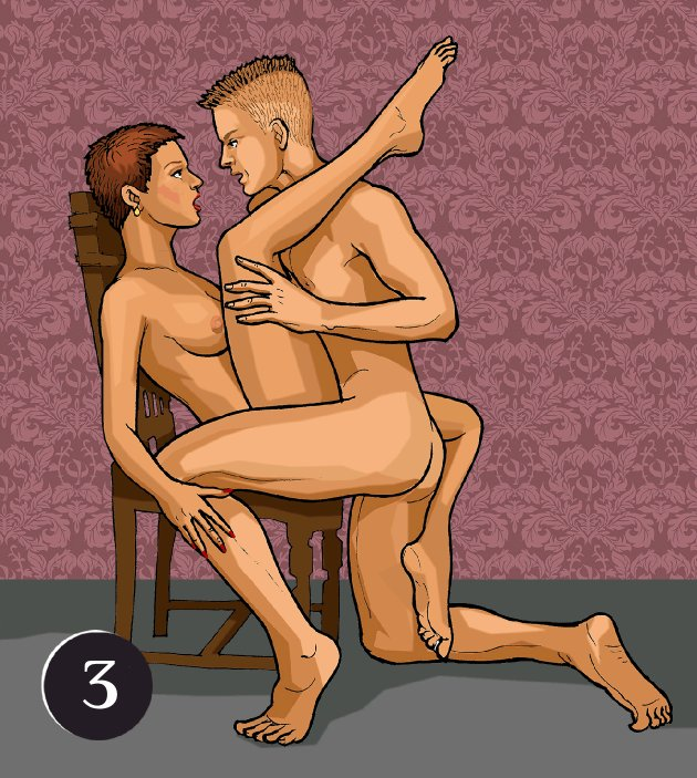 Erotic family sex positions, nude plump blonde