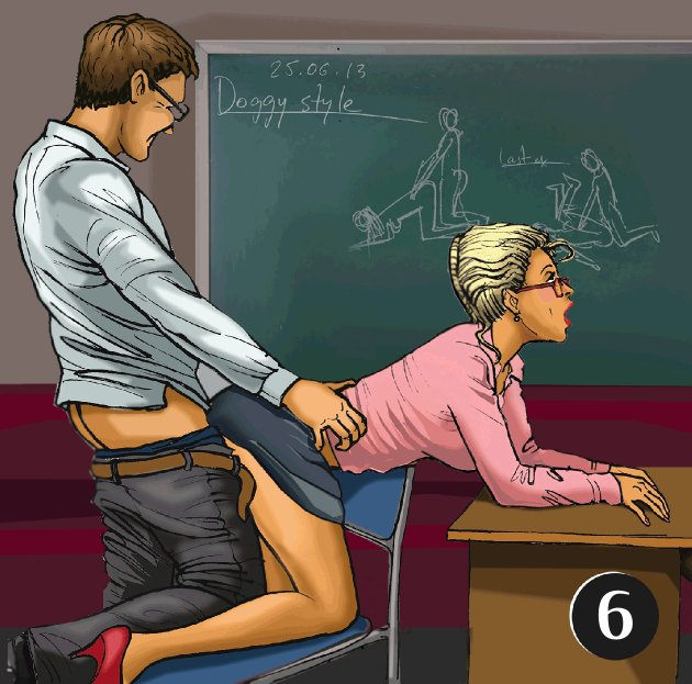 Sex positions in an office chair